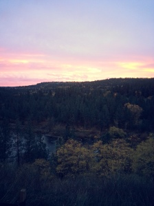 Spokane River Sunset 11-6-14