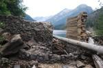 Eightmile Lake nonfunctioning dam Sept 15 2013 by Karl Forsgaard