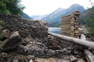 Eightmile Lake nonfunctioning dam Sept 15 2013 by Karl Forsgaard