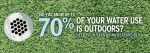 70_Percent of your water use