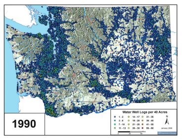 1990 Water Wells (Dept. of Ecology)